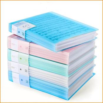 30 40 60 stron A4 Folder muzyka egzamin Organizer do papieru worek do przechowywania biurko teczka na dokumenty arkusz ochraniacze Case Stationery tanie i dobre opinie NoEnName_Null Torba na dokumenty Z tworzywa sztucznego