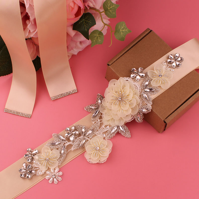 Dress belt bridal belt ladies belt pearl rhinestone belt evening dress belt wedding accessories
