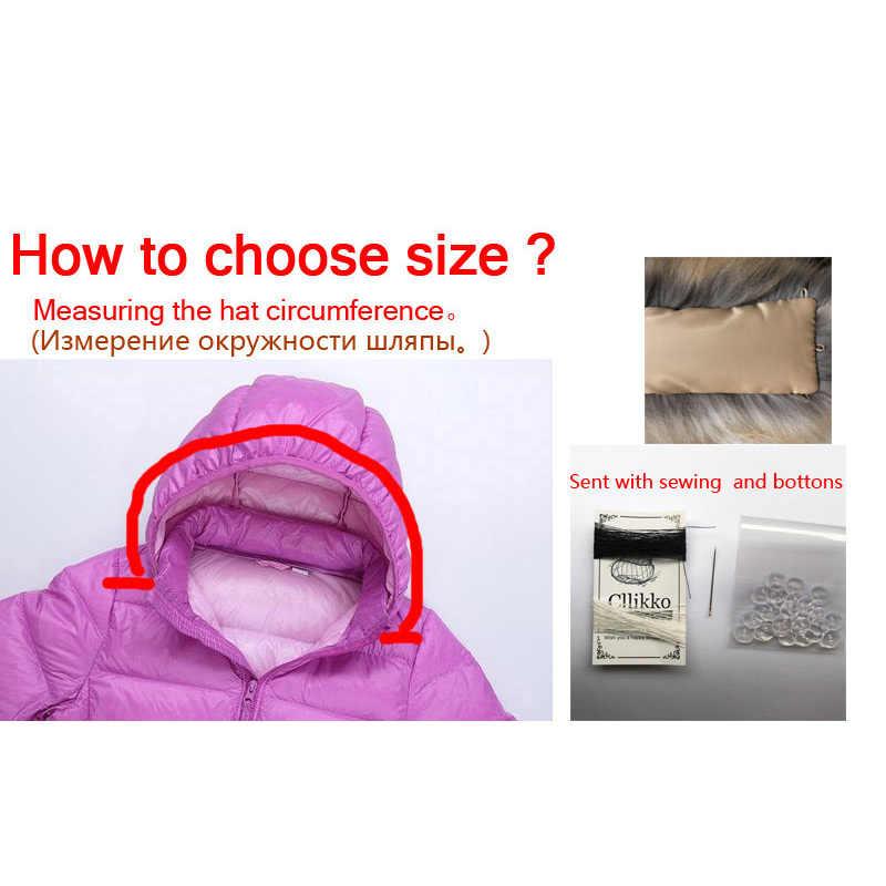 Cllikko 100% จริงสำหรับParkasเสื้อโค้ทLuxury Warm Natural Raccoonผ้าพันคอผู้หญิงขนขนาดใหญ่ผ้าพันคอชายแจ็คเก็ตเสื้อ