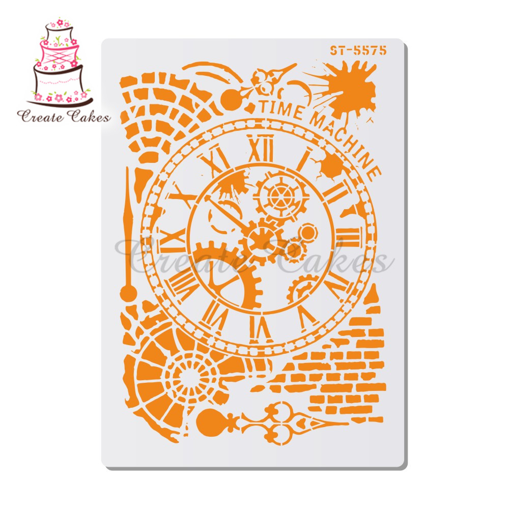 Gears Stencil For Walls Painting Scrapbooking Stamp Album Decorative Embossing DIY Craft Paper Card Flower Template