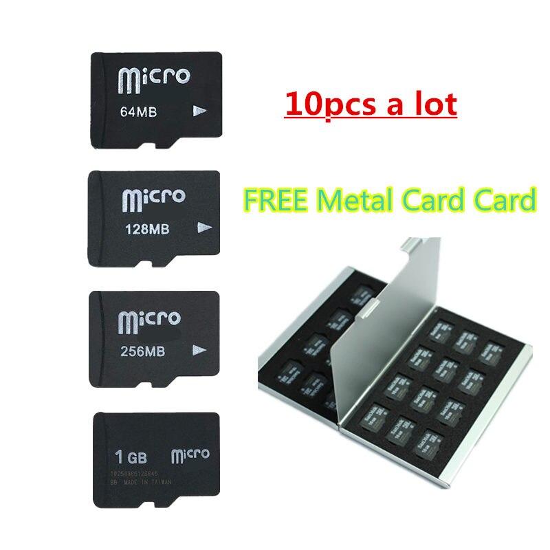 무료 금속 케이스로!! 64 mb-2 gb 마이크로 카드 마이크로 tf 카드 메모리 카드 transflash 카드