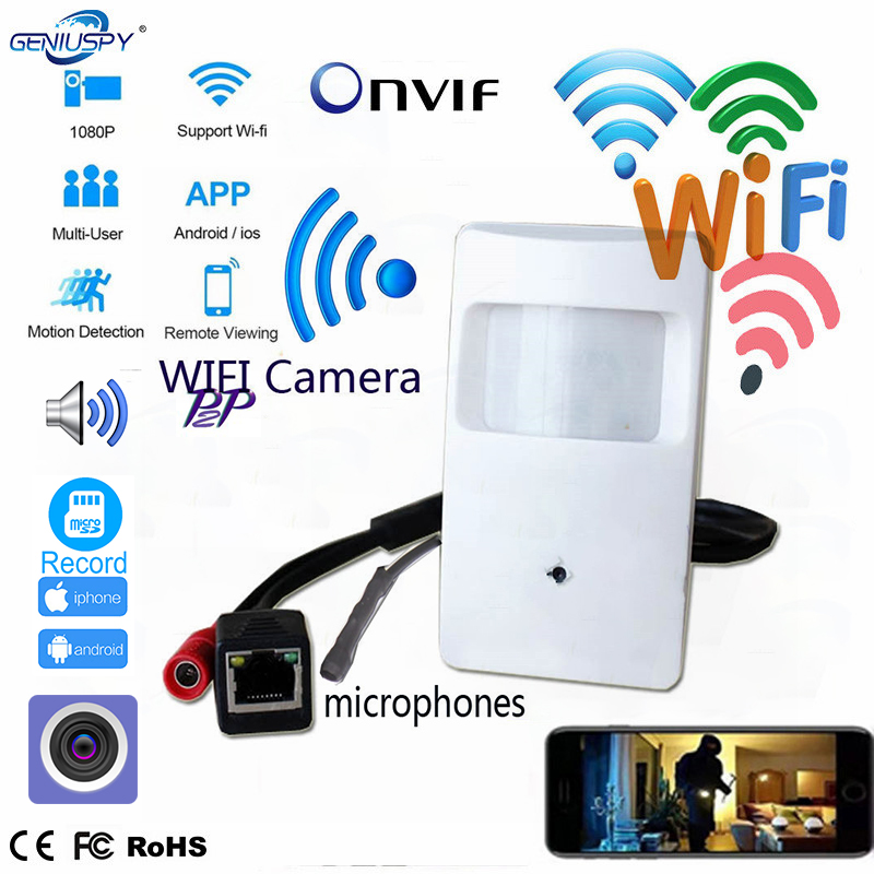 5MP 3MP 2MP 1.3MP 720P Mini IP Camera WIFI Covert Camera HD PIR STYLE Motion Detector Wireless IP Camera Sd Card P2P Security