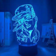 ثلاثية الأبعاد مصباح أنيمي جوجو غريب مغامرة ل ديكور غرفة نوم ضوء هدية عيد ميلاد مانغا جوجو الشكل Led ضوء الليل جوتارو كوجو