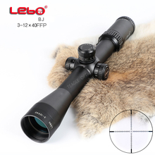 Hunting Riflescope Optical Sight BJ 3-12X40 FFP Tactical Riflescope with Mil Dot Reticle with Illumination Rifle scope lambul hot optical sight 3 9x32 mil dot aoir riflescope scope optics riflescope sight hunting for chasse aim scope gun caza