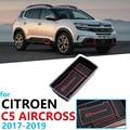 Автомобильный Органайзер  аксессуары для Citroen C5 Aircross 2017 2018 2019 2020  подлокотник  ящик для хранения  Противоскользящий коврик для монет