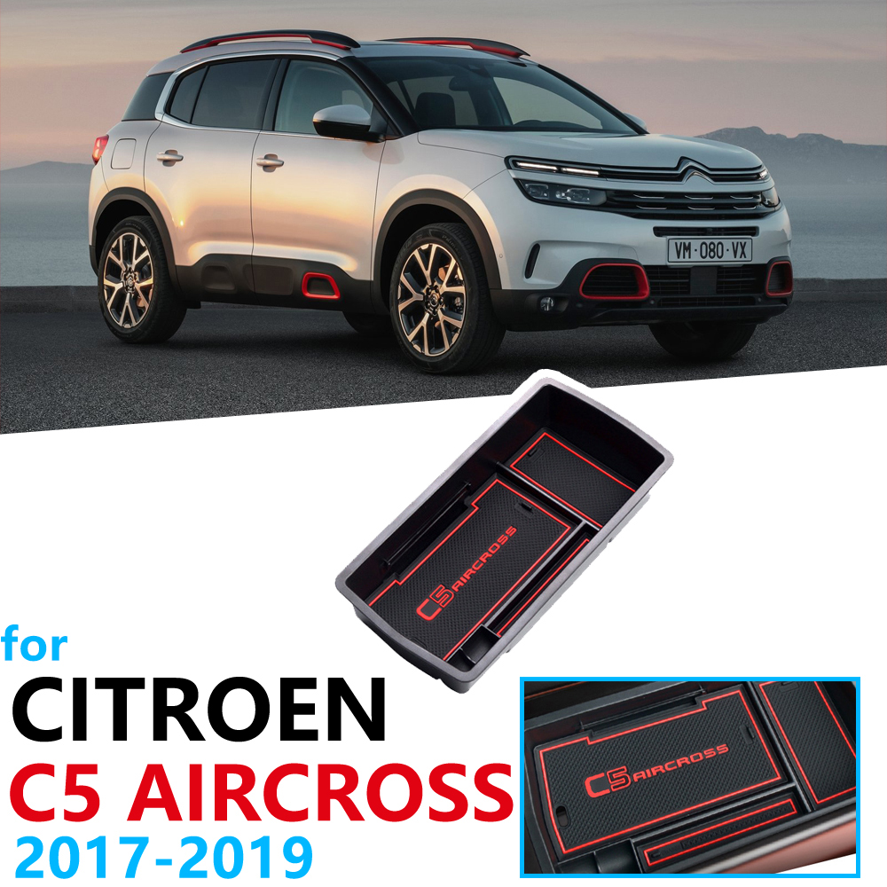 Car Organizer Accessories For Citroen C5 Aircross 2017 2018 2019 2020 Armrest Box Storage Stowing Tidying Anti-Slip Mat Coin
