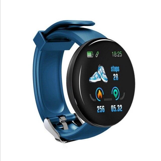 Relógio inteligente para homem e mulher, esportes pulseira, controle de pressão arterial, bluetooth, android ios esporte à prova dwaterproof água relógio inteligente 5