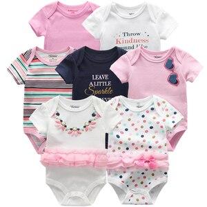Image 2 - คุณภาพสูง 7 ชิ้น/ล็อตเสื้อผ้าเด็กชายหญิง 2020 แฟชั่น ropa Bebe เสื้อผ้าเด็กทารกแรกเกิด Rompers โดยรวมเด็กทารก jumpsuit