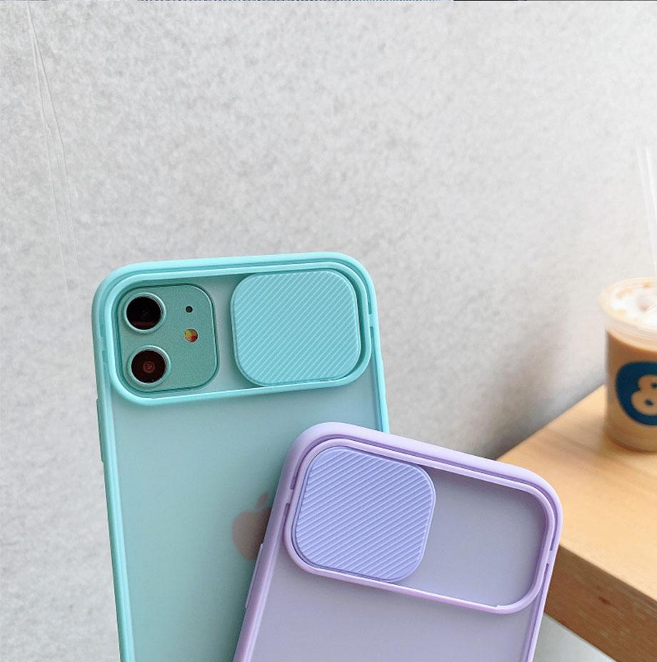 Capinha celular iphone case Proteção da lente da câmera caso do telefone para o iphone 11 12 pro max 8 7 6s mais xr xsmax x xs se 2020 12 cor doces capa traseira macia