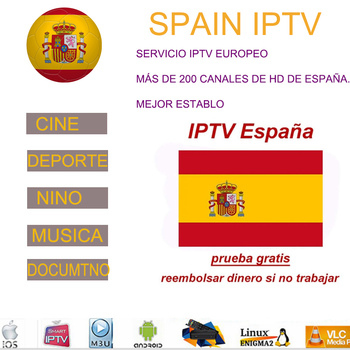 Iptv Spain M3U subscription iptv France German portugal latino 12 months Spot TV code Enigma for Android box smart tv Series VOD