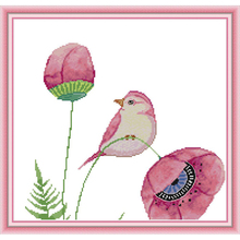 Joy Sunday,Flowers and bird,cross stitch embroidery,cross stitch pattern,cross stitch needlework,Animal pattern cross stitch kit цены