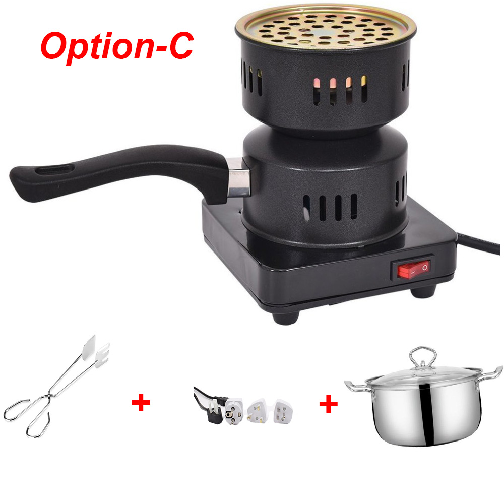 220V EU  Electronic Black Charcoal Stove Hot Plate Coal Burner Charcoal Heater Cooking Plate Multifunction Electric Stove