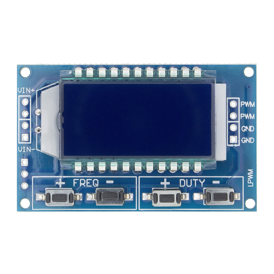 PWM Pulse Frequency Duty Cycle Adjustable Module LCD Display 1Hz-150Khz 3.3V-30V PWM Board Module