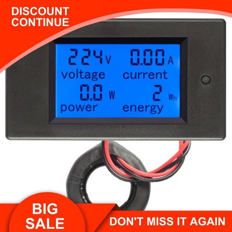 Peacefair AC Single Phase Digital Wattmeter Power Energy Meter 220V 100A Kwh Meter Homekit PZEM-061 with Coil CT Free Shipping