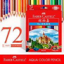 Andstal FABER-CASTELL-lápices de colores acuarelables, 72 colores, set de lápices de colores acuarelables, para dibujo de madera