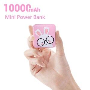 Image 2 - CASEIER śliczny mini Powerbank 10000mAh USB Powerbank led do ładowania Xiaomi bateria zewnętrzna przenośna ładowarka Powerbank