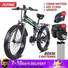 Electric-Bike MTB Mountain ALFINA FX-01 26inch-Tires Snowbike 1000W Smart New And Waterproof