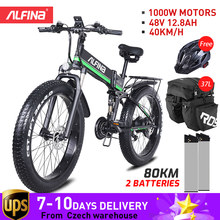 ALFINA FX-01 Nouveau 1000W 12.8AH Smart Vélo Électrique de Montagne de Vélo de Neige VTT 45 KM/h 26 Pouces Pneus Imperméable et Pliable Ebike