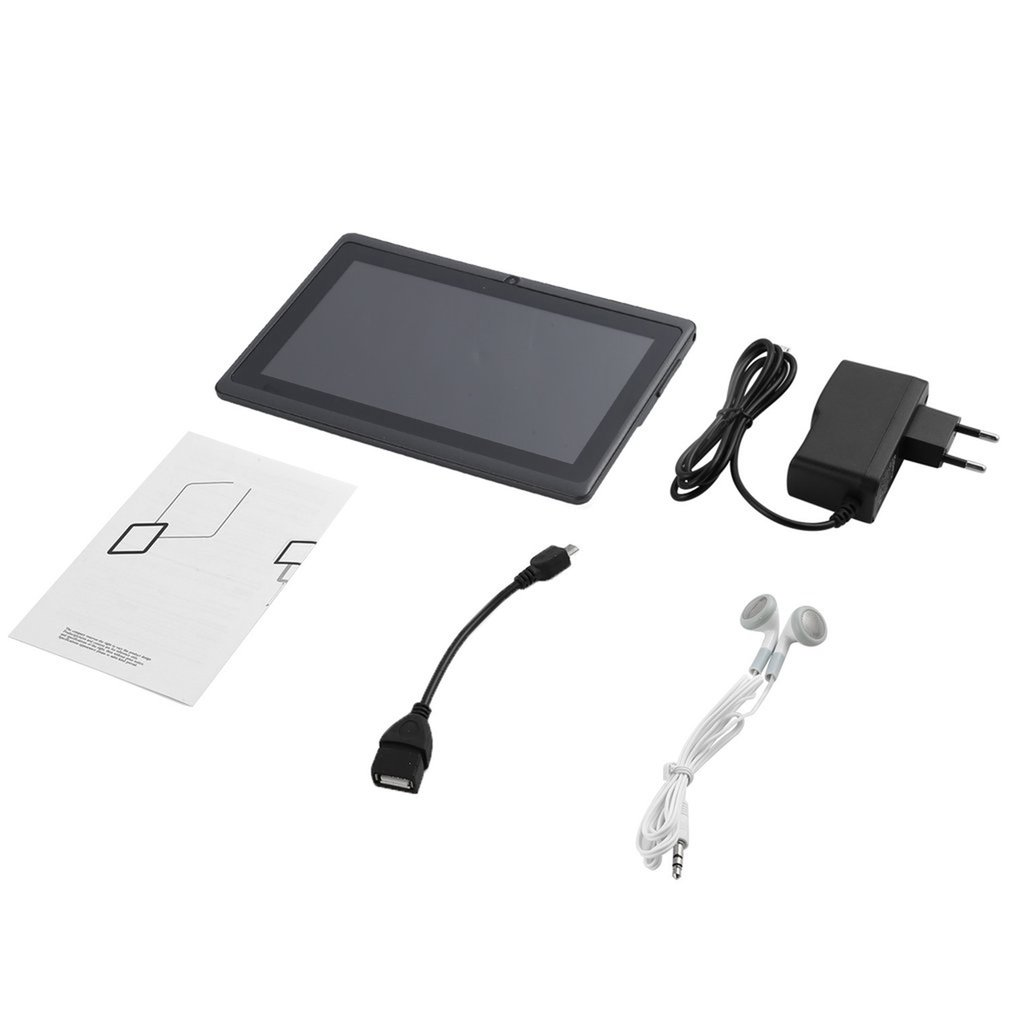 7 Inch Quad-core Tablet Computer Q88h All-in A33 For Android 4.4wifi Internet 512mb 4g/8g Convenient