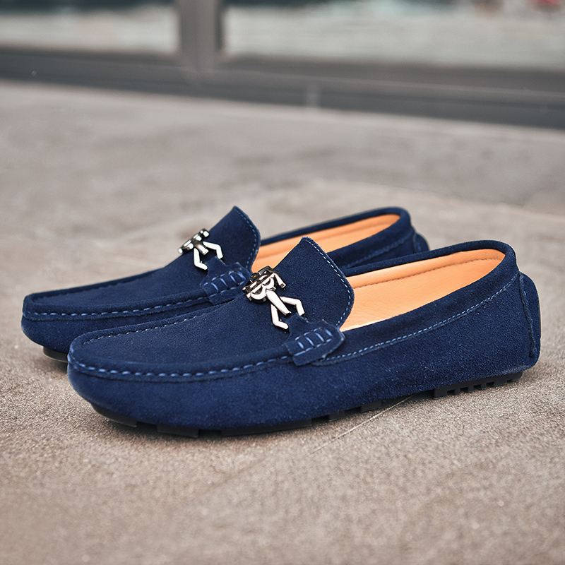 Promo Popular Men Young Casual Shoes Comfortable Drive Shoes For Mens Fashion Black Loafers Shoes Men Slip-on Flats Sneakers For Man