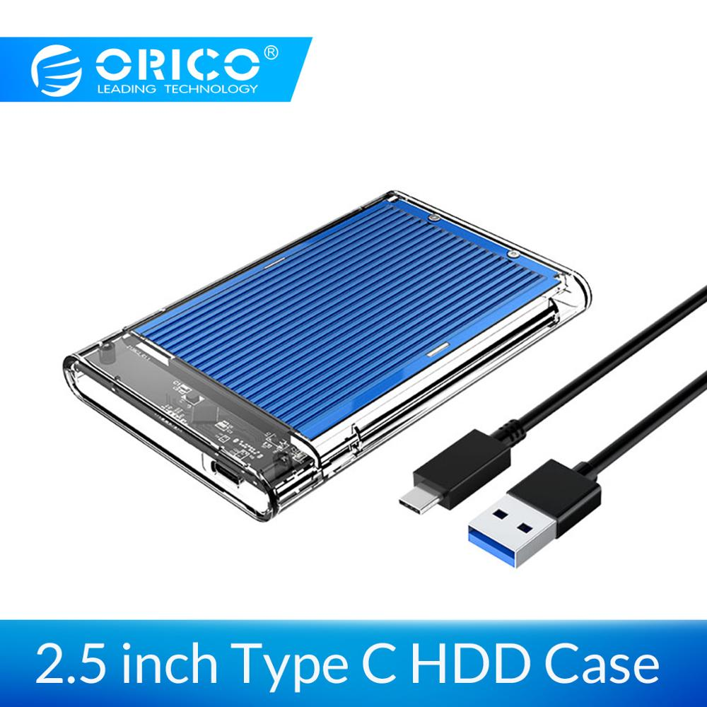 ORICO HDD Enclosure Case USB3.1 Gen1 Type C HDD Case 4TB Hard Drive External Enclosure Case 5Gbps For Windows/Mac