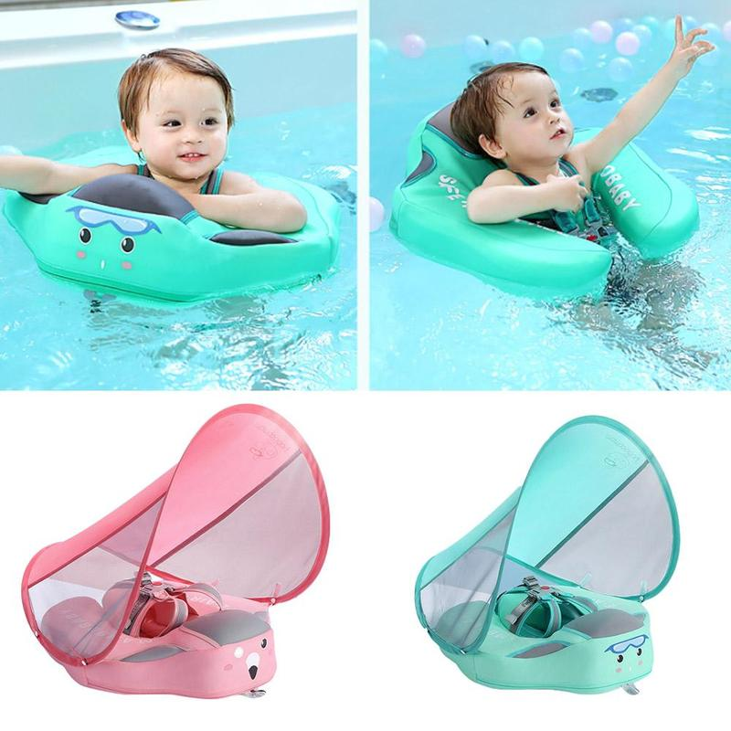 Infant Safety Inflatable-free Lying Ring With Sunshade Swimming Circle Swimming Pool Dedicated To