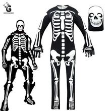 אימה גולגולת טרופר תלבושות בני זומבי קוספליי תחפושות ליל כל הקדושים לילדים מפחיד שלד ילדי מפחיד זר דברים