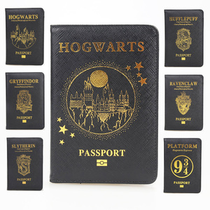 HEQUN Hogwarts Rfid Blocking Passport Cover Slytherin Gryffindor Ravenclaw Hufflepuff Passport Holder Travel Passport Card Case(China)