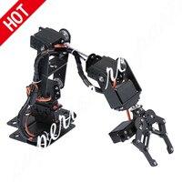 6 DOF Arm Roboter Manipulator Metall Legierung Mechanische Clamp Klaue Kit MG996R DS3115 für Arduino Roboter Bildung-in Teile & Zubehör aus Spielzeug und Hobbys bei
