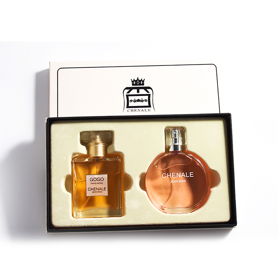 JEAN MISS 2Pcs Perfumed For Women Atomizer Beautiful Package With Box Fashion Lady Flower Fruit Perfumed As Gift 1Set