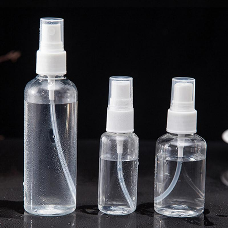 1Pcs Transparent Empty Spray Bottles 30ml/50ml/100ml Plastic Mini Refillable Empty Cosmetic Containers Perfume Atomizer Bottle