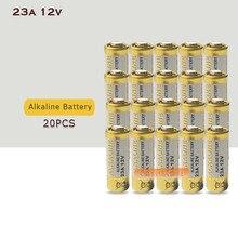 20 шт./лот маленький Батарея 23A 12V 21/23 A23 E23A MN21 MS21 V23GA L1028 Щелочная сухая Батарея