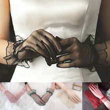 1 Pair Sexy Gloves Women Gloves Transparent Lace Gl