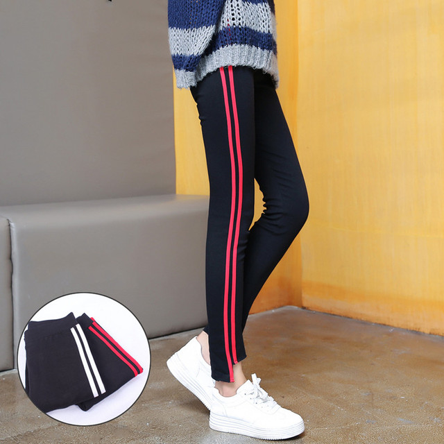 Height Waist Casual Striped Gothic Fitness Legging 4