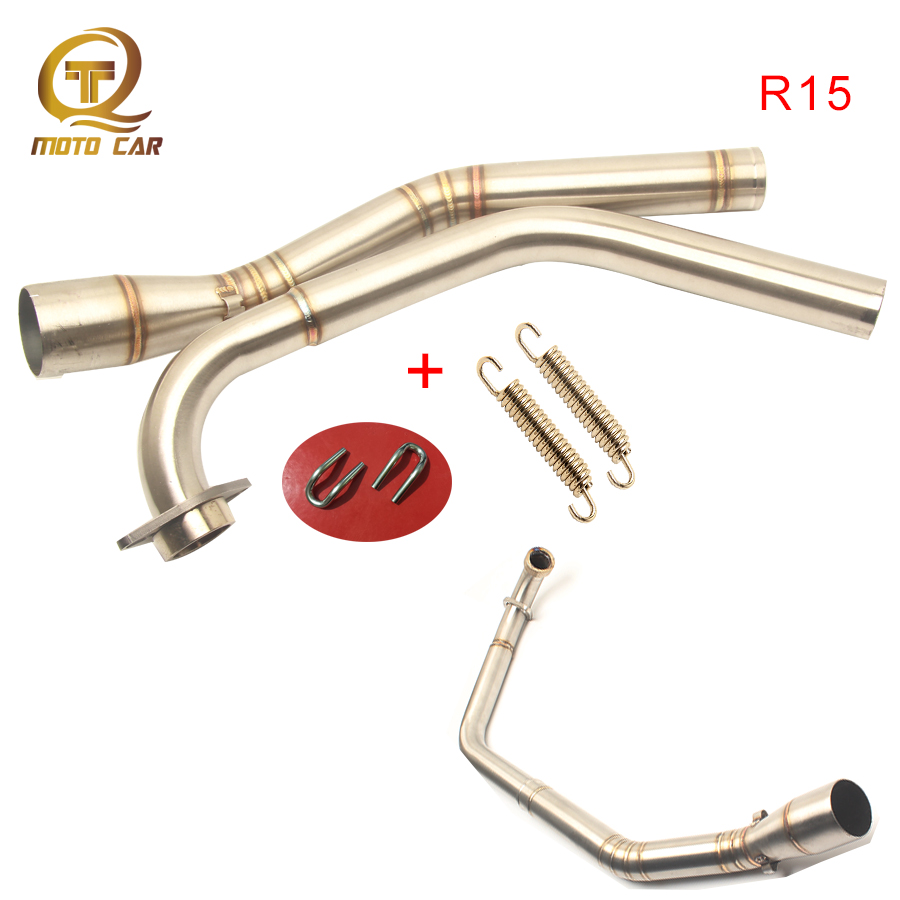 Motorcycle Exhaust Middle tube Pipe Connect Link Escape Muffler for <font><b>YAMAHA</b></font> R15 R 15 <font><b>MT</b></font>-15 <font><b>MT</b></font> <font><b>125</b></font> System 2008-2010 2011 2012-2017 image