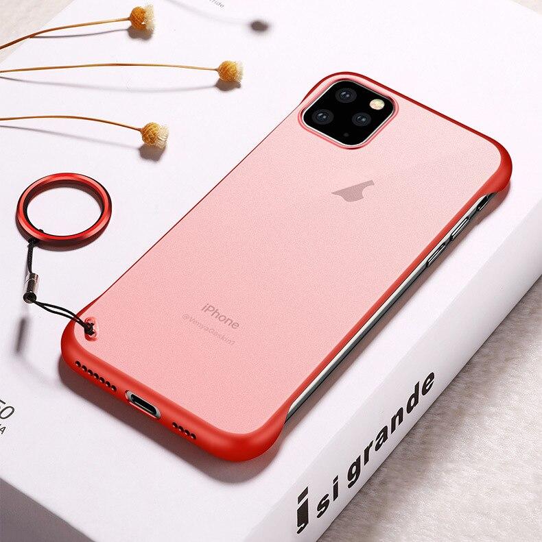 Frameless Slim Matte Hard Back Cases for iPhone 11/11 Pro/11 Pro Max 12