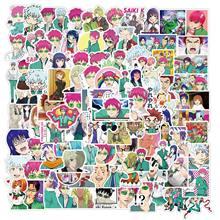 10/50/100 pçs anime a vida desastrosa de saiki k adesivos decalques saiki kusuo etiqueta para portátil skate motocicleta crianças brinquedos