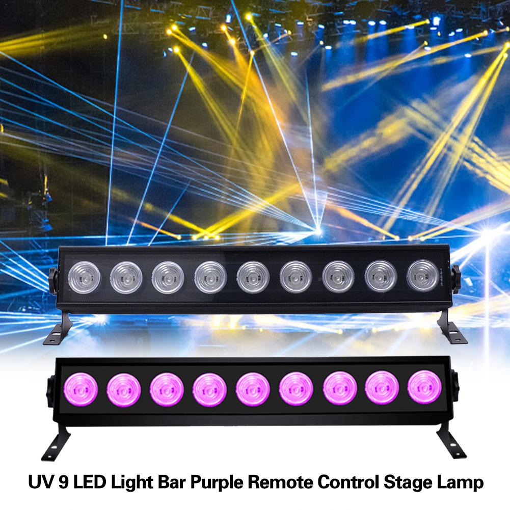 UV 9 LED Light Bar Purple Remote Control Stage Lamp For Christmas Party Decoration