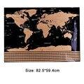 82.5x59.4 см черная карта мира для путешествий  Карта мира с защитой от царапин  персонализированная креативная карта стирания без настенных на...