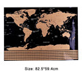 82.5x59.4cm preto mundo mapa de viagem tubo do mundo mapa do risco fora da decoração mapa criativo personalizado apagar sem adesivos de parede