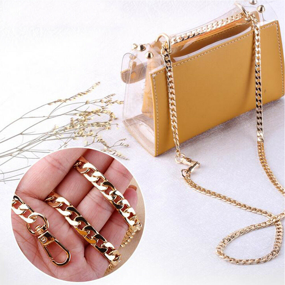 20cm Ultralight Aluminum Metal Purse Chains Bag Strap Replacement Purse Chain Shoulder Crossbody Bag Straps For Small Handbags