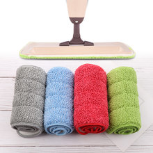 1pc Microfiber Household Spray Mop Replacement Pads Heads Refill Wet Dry Cleaning Cloth Washable Home Bathroom Accessories(China)