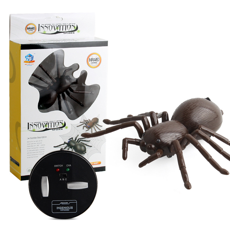 Electric Remote Control Class Toy Model Infrared Remote Control Spider Crawling  Animal Model Children New Year Gift