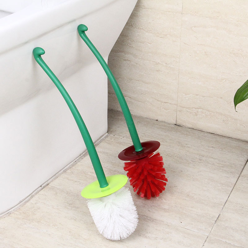 `Free ShipToilet-Brush-Holder-Set Cleaner Cherry-Shaped Bathroom Household Creative Cute 1235 LHXë