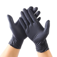 100PC Black Blue Disposable Latex Gloves Dishwashing/Kitchen/Medical /Work/Rubber/Garden Glove Universal For Left and Right Hand