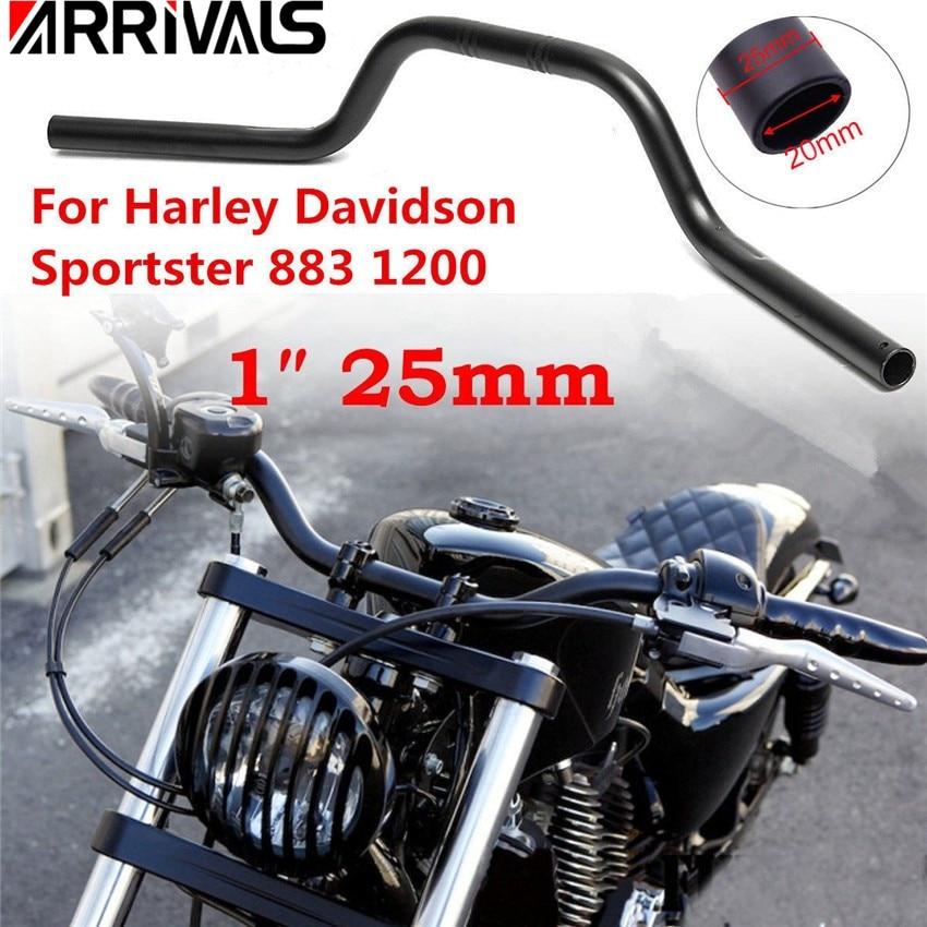 """Hand Grips 1/"""" 25mm Handlebar For Harley XL 883 Hugger Sportster Cruiser Gold"""