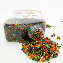 5000pcs Crystal Mud Hydrogel Gel Polymer Water Beads Flower Wedding Decoration Polymer Growing Water Balls Home Potted Soil 50%