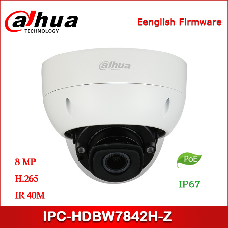 Dahua IP camera IPC-HDBW7842H-Z 8MP AI IR Dome Network Camera  starlight support POE