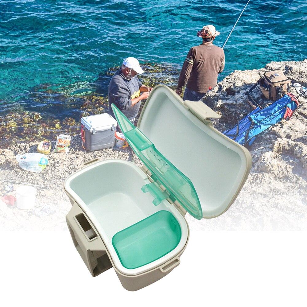 Fishing Live Bait Lure Storage Box Case Worm Earthworm Keeper Holder