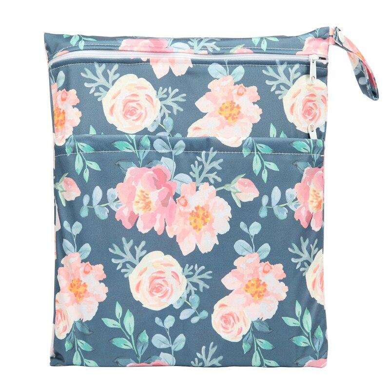 [Sigzagor] 1 Влажная сухая сумка с двумя молниями для детских подгузников, водонепроницаемая сумка для подгузников, розничная и, 36 см x 29 см, на выбор 1000 - Цвет: WH31